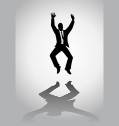 man with suit jumping vector image