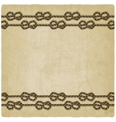 marine knot background vector image
