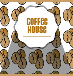 Nice coffee grains background design vector