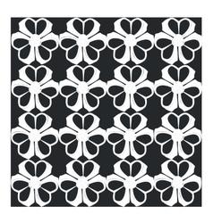 Ornament in black 07 vector image