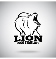 Roaring Lion logo template for sport teams vector image vector image