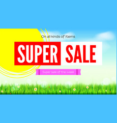 Sale an all kinds of items summer hot discounts vector
