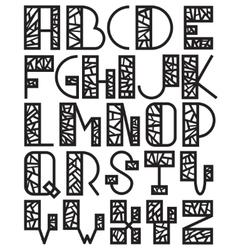 Set of mosaic alphabet vector image vector image