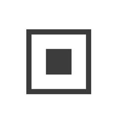 Simple common square stop button vector