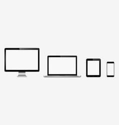smart digital device set computer monitor laptop vector image vector image