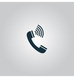 Sound from the handset - phone icon vector image