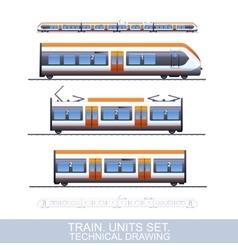 Speed Train vector image