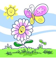 spring cartoon vector image