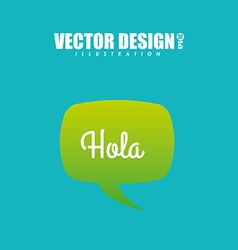 text balloon design vector image