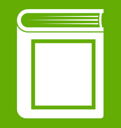 thick book icon green vector image vector image