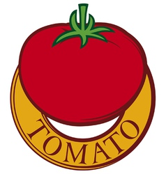 tomato label design vector image vector image