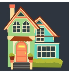 vintage cartoon house vector image vector image