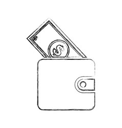 Wallet silhouette isolated icon vector