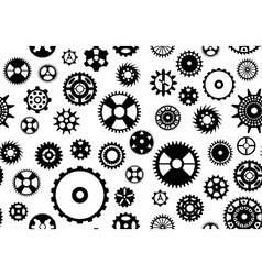 Seamless gear background vector image