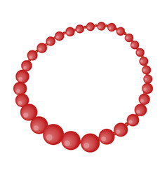 red female necklace of precious stones dressing vector image