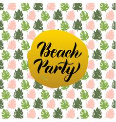 Beach party design vector