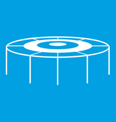 Trampoline icon white vector