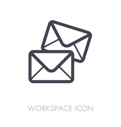Mail outline icon workspace sign vector