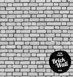 Seamless brick wall black vector