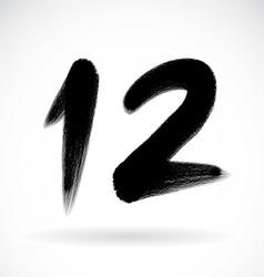 Number twelve vector image
