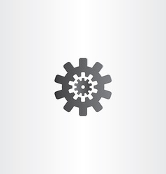 Black gear icon sign design vector