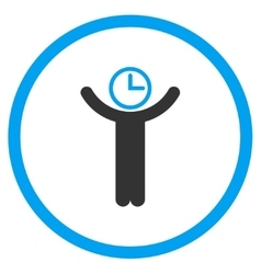 Time manager circled icon vector