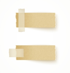 Paper labels attached with sticky tape vector