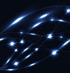 Abstract blue light glowing background vector image