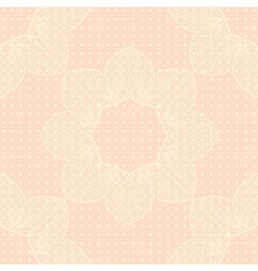 background with lace ornament and dots vector image
