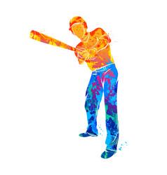 baseball player ball vector image vector image