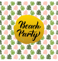 Beach party design vector