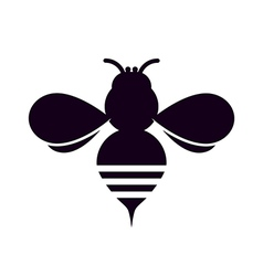 Bee silhouette vector