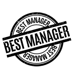 Best Manager rubber stamp vector image