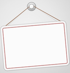 Blank Signboard vector image vector image