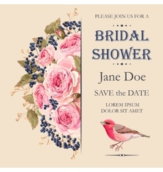 Bridal shower invitation vector
