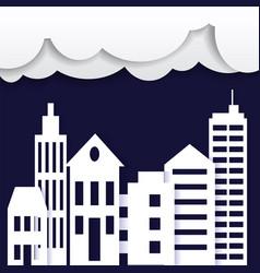 cityscape paper art style city concept vector image vector image