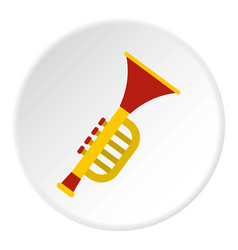 Colorful trumpet toy icon circle vector