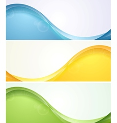Colorful wavy banners vector image vector image