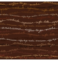 Dark samless coffee patten vector