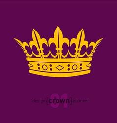 Design element crown vector