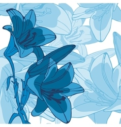 Elegant of lilly flowers vector image vector image