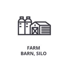 Farm barn silo line icon outline sign linear vector