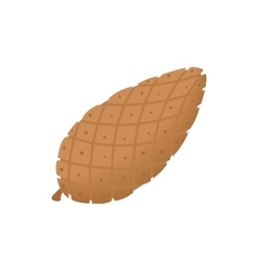 Fir cone icon cartoon style vector