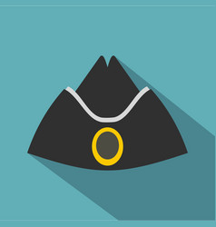 Forage cap icon flat style vector