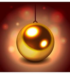 Glitter christmas ball vector