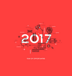 infographic concept 2017 year of opportunities vector image vector image