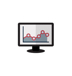 Isolated graph flat icon chart element can vector