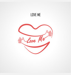 love me typographical design elements vector image vector image