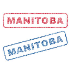 manitoba textile stamps vector image vector image