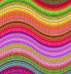 Multicolored abstract wave background design vector image